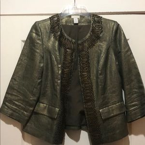 Metallic Green Blazer